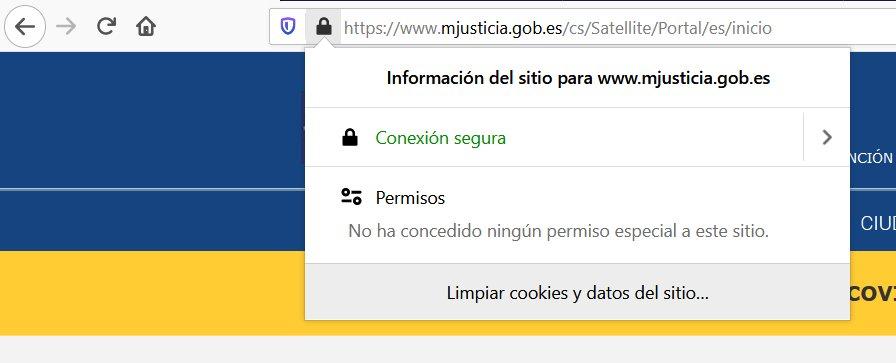 Servicios electrónicos de confianza, acceso por información de certificado https en web